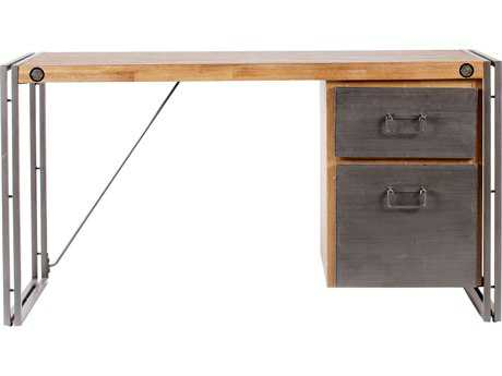 Moe's Home Collection Brooklyn 55'' x 23.5'' Acacia Wood with Steel Desk