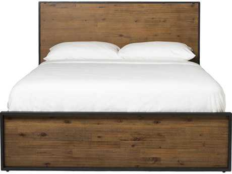 Moe's Home Collection Brooklyn Acacia Wood Queen Platform Bed