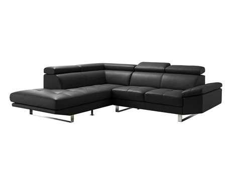 Moe's Home Collection Andreas Black Left Sectional