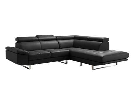 Moe's Home Collection Andreas Black Right Sectional