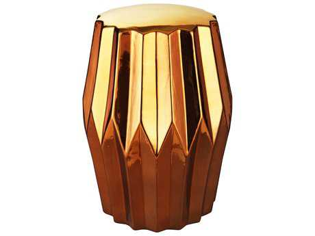 Moe's Home Collection Column Gold Accent Stool