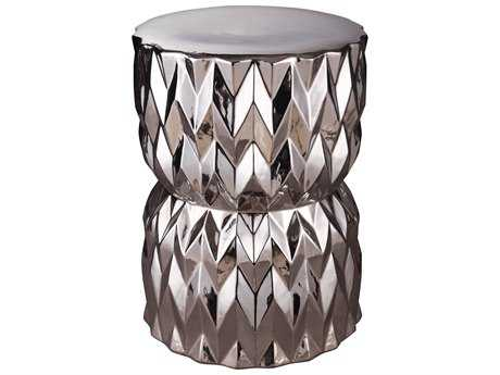 Moe's Home Collection Facet Silver Accent Stool