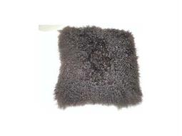 Moe's Home Collection Lamb Fur Gray Pillow