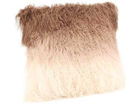 Moe's Home Collection Lamb Fur Tan Spectrum Pillow