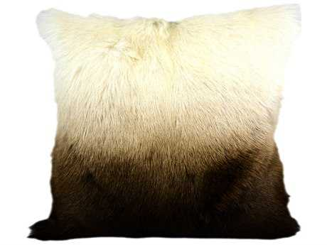 Moe's Home Collection Goat Fur Chocolate Spectrum Pillow