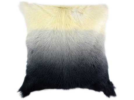 Moe's Home Collection Goat Fur Light Grey Spectrum Pillow