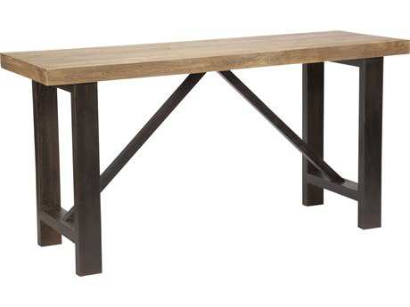 Moe's Home Collection Novo 83'' x 28'' Rectangular Elm with Steel Base Bar Dining Table