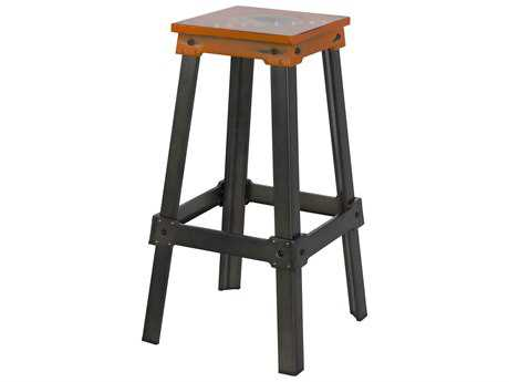 Moe's Home Collection Amelie Bistro Tangerine Bar Stool