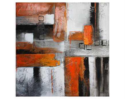 Moe's Home Collection Orange Abstract II Wall Art