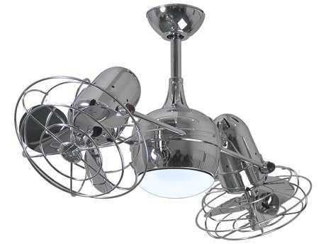 Matthews Fan Company Dagny Polished Chrome 2-Light 40'' Wide Indoor Ceiling Fan