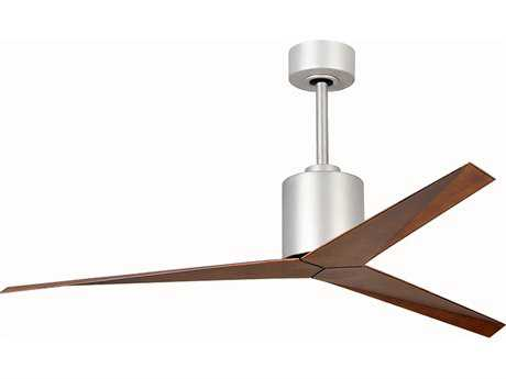 Matthews Fan Company Eliza Brushed Nickel & Walnut Tone 56'' Wide Indoor Ceiling Fan