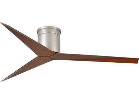 Matthews Fan Company Eliza-H Brushed Nickel & Walnut Tone 56'' Wide Indoor Ceiling Fan
