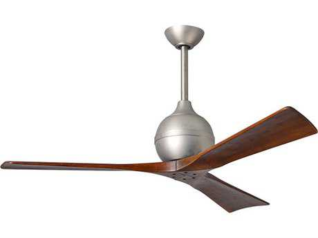 Matthews Fan Company Irene Brushed Nickel & Walnut Tone 42'' Wide Three-Blade Indoor Ceiling Fan