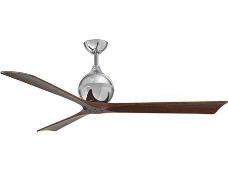 Matthews Fan Company Irene Polished Chrome 60'' Wide Three-Blade Indoor Ceiling Fan