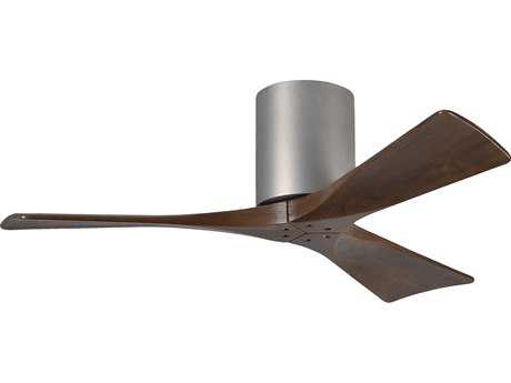 Matthews Fan Company Irene-H Brushed Nickel & Walnut Tone 42'' Wide Three-Blade Indoor Ceiling Fan