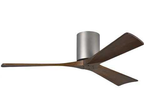 Matthews Fan Company Irene-H Brushed Nickel & Walnut Tone 52'' Wide Three-Blade Indoor Ceiling Fan