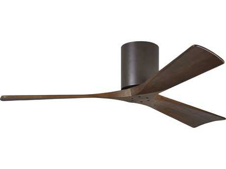Matthews Fan Company Irene-H Textured Bronze & Walnut Tone 52'' Wide Three-Blade Indoor Ceiling Fan