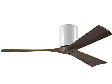 Matthews Fan Company Irene Gloss White & Walnut Tone 52'' Wide Three-Blade Indoor Ceiling Fan