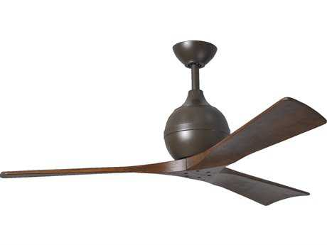 Matthews Fan Company Irene Textured Bronze & Walnut Tone 52'' Wide Three-Blade Indoor Ceiling Fan