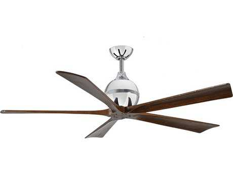 Matthews Fan Company Irene Polished Chrome 60'' Wide Five-Blade Indoor Ceiling Fan