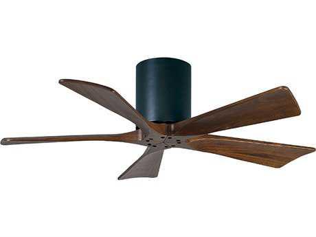 Matthews Fan Company Irene-H Matte Black & Walnut Tone 42'' Wide Five-Blade Indoor Ceiling Fan