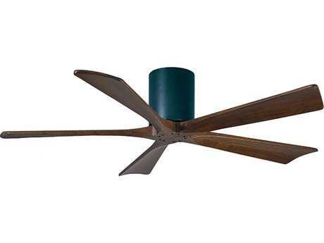 Matthews Fan Company Irene-H Matte Black & Walnut Tone 52'' Wide Five-Blade Indoor Ceiling Fan