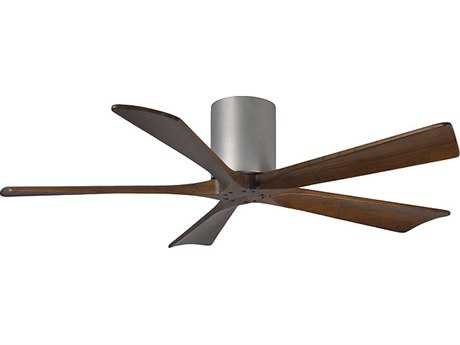 Matthews Fan Company Irene-H Brushed Nickel & Walnut Tone 52'' Wide Five-Blade Indoor Ceiling Fan
