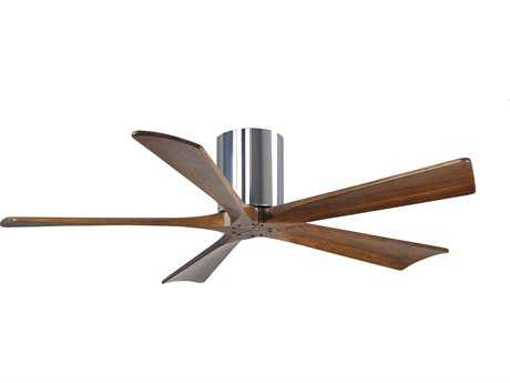Matthews Fan Company Irene-H Polished Chrome & Walnut Tone 52'' Wide Five-Blade Indoor Ceiling Fan