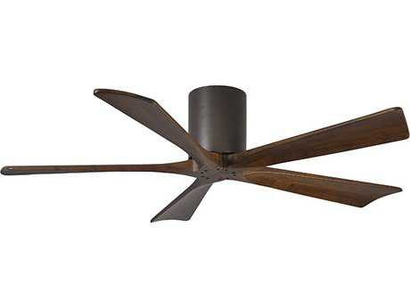 Matthews Fan Company Irene-H Textured Bronze & Walnut Tone 52'' Wide Five-Blade Indoor Ceiling Fan