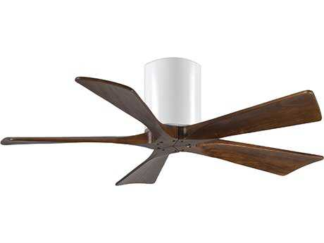 Matthews Fan Company Irene-H Gloss White & Walnut Tone 42'' Wide Five-Blade Indoor Ceiling Fan