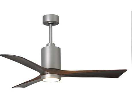 Matthews Fan Company Patricia Brushed Nickel 52'' Wide Three-Blade Indoor Ceiling Fan with LED Light Kit