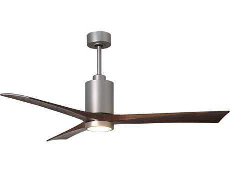 Matthews Fan Company Patricia Brushed Nickel 60'' Wide Three-Blade Indoor Ceiling Fan with LED Light Kit