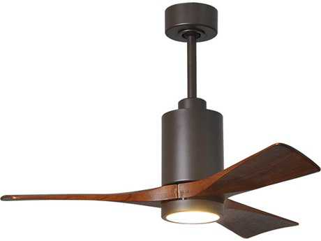 Matthews Fan Company Patricia Textured Bronze 42'' Wide Three-Blade Indoor Ceiling Fan with LED Light Kit
