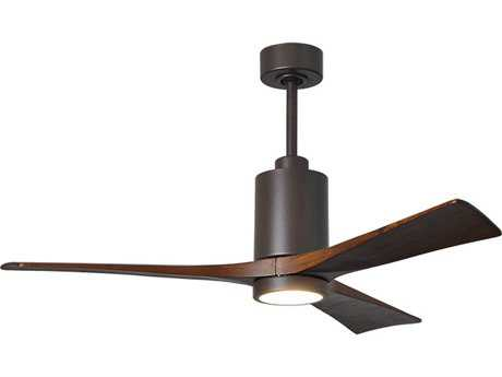 Matthews Fan Company Patricia Textured Bronze 52'' Wide Three-Blade Indoor Ceiling Fan with LED Light Kit