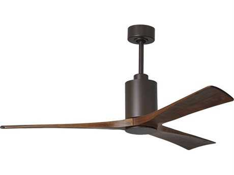 Matthews Fan Company Patricia Textured Bronze 60'' Wide Three-Blade Indoor Ceiling Fan with LED Light Kit