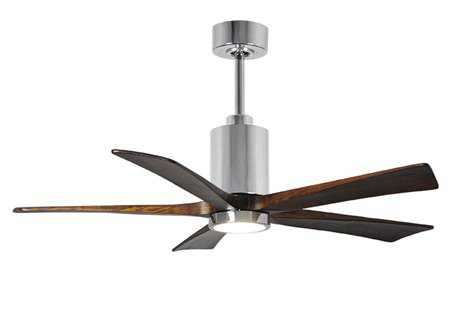 Matthews Fan Company Patricia Polished Chrome 52'' Wide Five-Blade Indoor Ceiling Fan with LED Light Kit