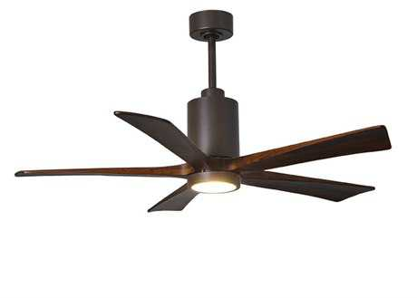 Matthews Fan Company Patricia Textured Bronze 52'' Wide Five-Blade Indoor Ceiling Fan with LED Light Kit