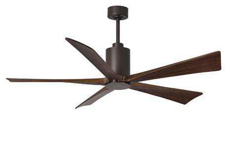 Matthews Fan Company Patricia Textured Bronze 60'' Wide Five-Blade Indoor Ceiling Fan with LED Light Kit