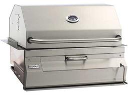 Charcoal Stainless Steel 30'' Built-in BBQ Grill with Smoker Oven Hood