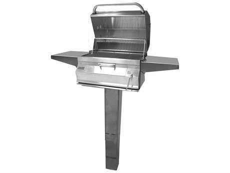 24 x 18 Charcoal Ingroud Post Grill with Smoker Oven Hood