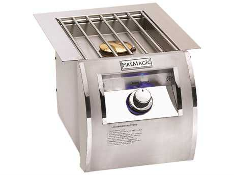 Fire Magic Echelon Stainless Steel Diamond Built-In Single Side Burner