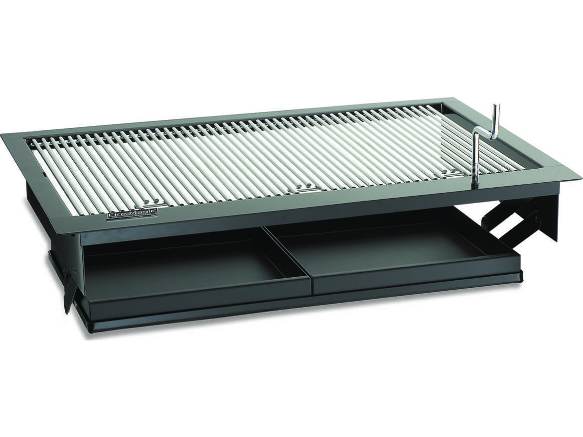 Fire Magic Charcoal Stainless Steel Firemaster 30u0027u0027 Built In BBQ Grill
