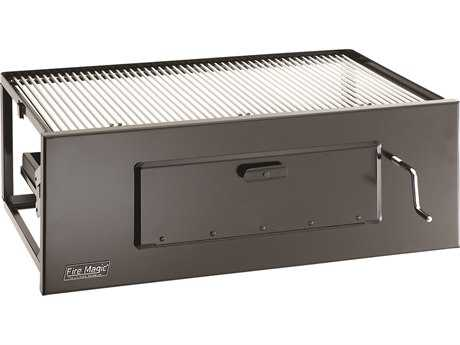 Fire Magic Charcoal Stainless Steel Lift-A-Fire 30'' Built-in BBQ Grill PatioLiving
