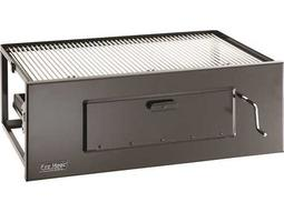 Charcoal Stainless Steel Lift-A-Fire 30'' Built-in BBQ Grill
