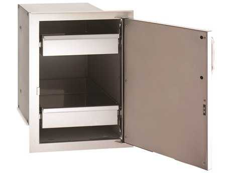 Fire Magic Select Stainless Steel Single Door with Dual Drawers