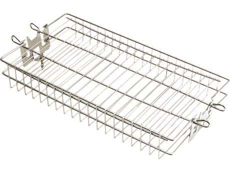 Fire Magic Stainless Steel Flat Rotisserie Basket PatioLiving