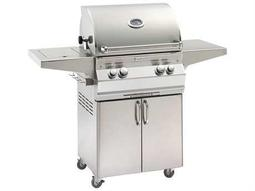 Aurora Portable Grill with Single Side Burner and Rotisserie Backburner