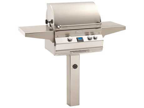 Fire Magic Aurora In-Ground Post Mount Grill with Rotisserie Backburner PatioLiving