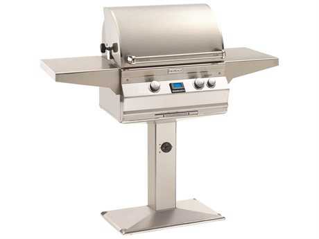 Fire Magic Aurora Grill on Post with Rotisserie Backburner PatioLiving