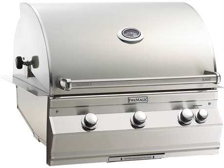Fire Magic Fire Magic Aurora Built in Barbecue Grill Stainless Steel with Rotisserie Backburner PatioLiving